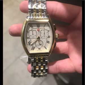 Michele Watch Releve two-tone gold silver NEW!!!